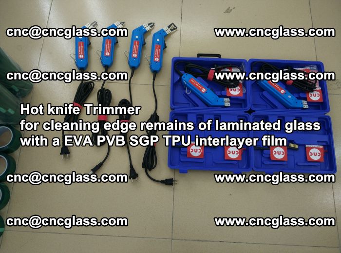 EVA Hot knife Trimmer for cleaning edge remains of laminated glass with a EVA PVB SGP TPU interlayer film (21)