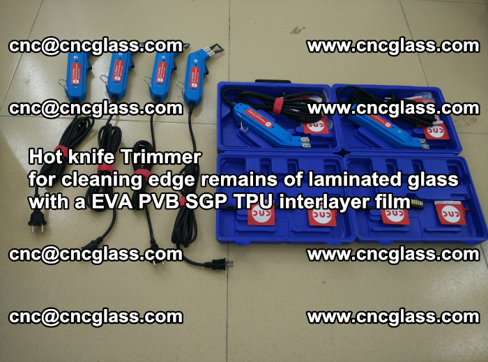EVA Hot knife Trimmer for cleaning edge remains of laminated glass with a EVA PVB SGP TPU interlayer film (31)