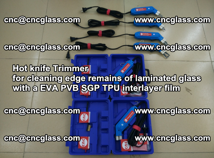 EVA Hot knife Trimmer for cleaning edge remains of laminated glass with a EVA PVB SGP TPU interlayer film (5)