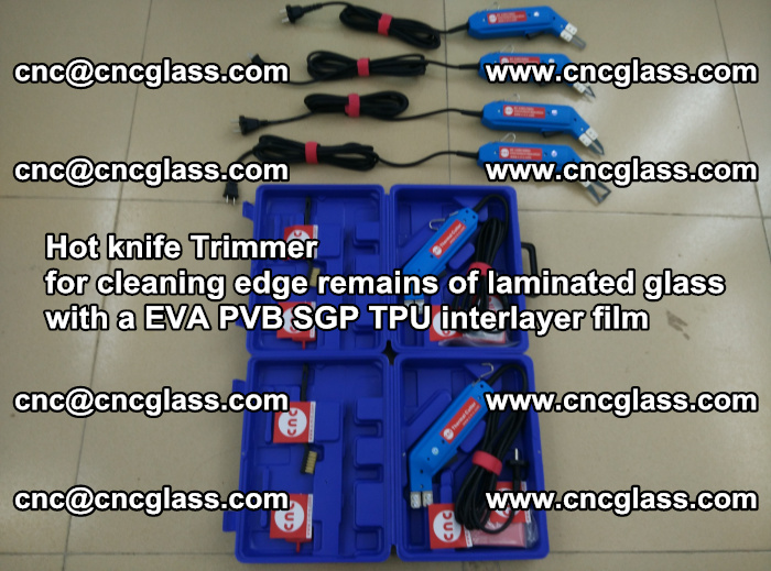 EVA Hot knife Trimmer for cleaning edge remains of laminated glass with a EVA PVB SGP TPU interlayer film (7)