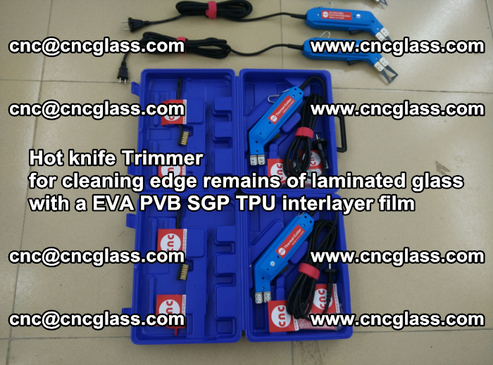 EVA Hot knife Trimmer for cleaning edge remains of laminated glass with a EVA PVB SGP TPU interlayer film (9)